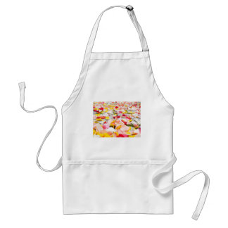 Pink Red and Yellow Rose Petals Standard Apron