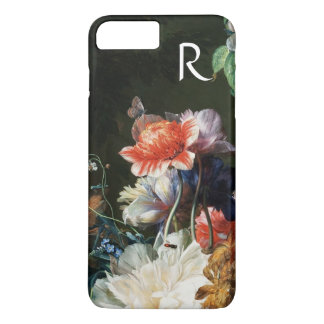 PINK RED ANEMONES WHITE FLOWERS,BUTTERFLY MONOGRAM Case-Mate iPhone CASE