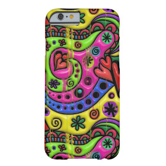 Pink Red Blue and Green Hearts Stars and Flowers Barely There iPhone 6 Case