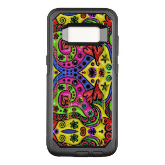 Pink Red Blue and Green Hearts Stars and Flowers OtterBox Commuter Samsung Galaxy S8 Case