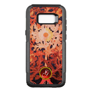 PINK RED DAISY / FLORAL GEM MONOGRAM OtterBox COMMUTER SAMSUNG GALAXY S8+ CASE