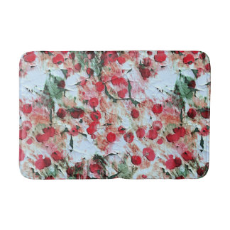 Pink Red Dirty polka Dot Grunge Decay Bath Mat