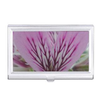 Pink Red Flower Business Card Holder