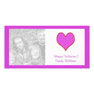 pink red  heart picture card