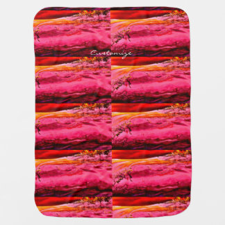 pink/red maui wave pattern Thunder_Cove Baby Blanket