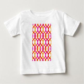 Pink Red Orange Bold Chain Print Baby T-Shirt