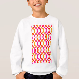 Pink Red Orange Bold Chain Print Sweatshirt
