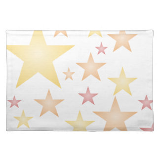 Pink/red/orange stars placemat
