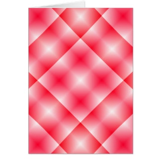 Pink/Red plaid background Greeting Cards