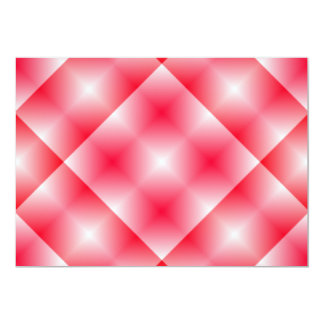 Pink/Red plaid background Invitations