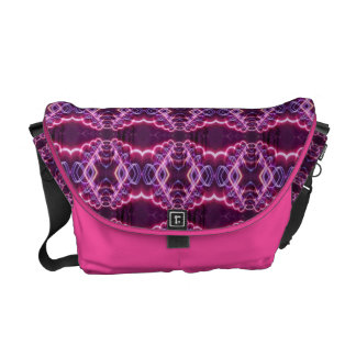 Pink Red Purple Abstract Pattern Courier Bags