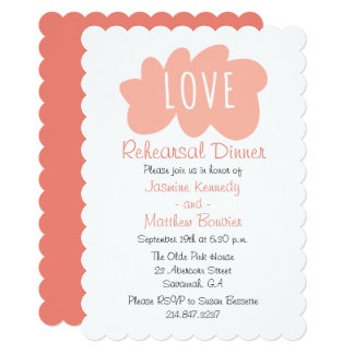 Pink Red Rehearsal Dinner Love Paint Splat Cloud Card