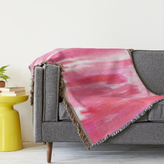 Pink Red & White Tie Dye Throw Blanket