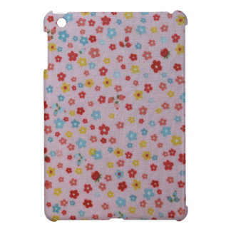 pink, red, yellow, and blue flowers iPad mini cases