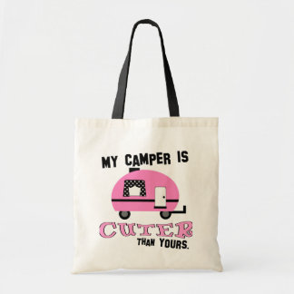 Pink Retro Camper Tote Bag