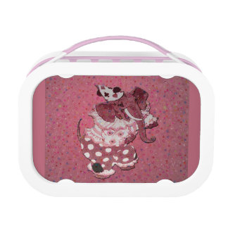 Pink Retro Circus Elephant Lunch Box