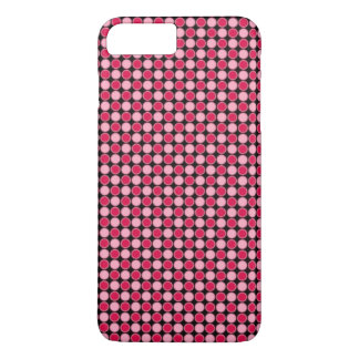 Pink Retro Dot Checkerboard iPhone 7 Plus Case