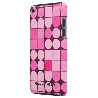 Pink Retro Fabric Design iPod Case-Mate Case