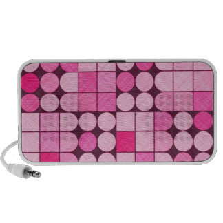 Pink Retro Fabric Design Travelling Speaker