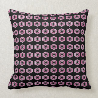 Pink-Retro-High-Style-Mod-Accent-Pillows Throw Pillow