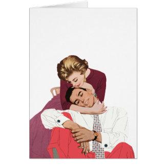 Pink Retro Romance Vintage Romantic Love Greeting Cards