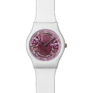 Pink Retro Roses May28th Watch