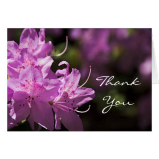 Pink Rhododendron Flowers Thank You Card