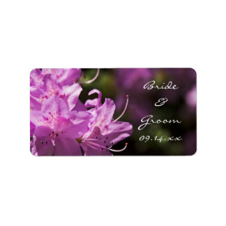 Pink Rhododendron Flowers Wedding Favor Tags