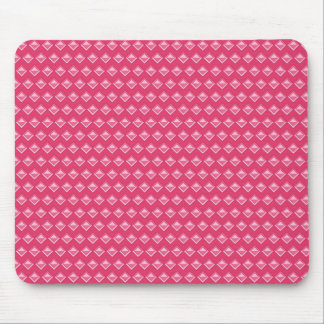 Pink rhomb mouse pad