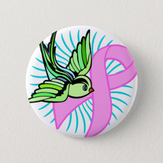 Pink Ribbon 2 Inch Round Button