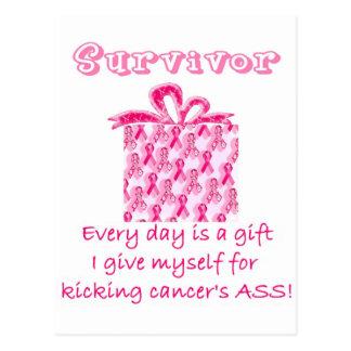 pink ribbon 3 postcard