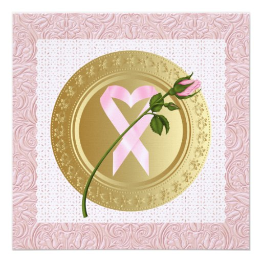 Pink Ribbon - An Elegant Occasion - SRF Custom Announcement