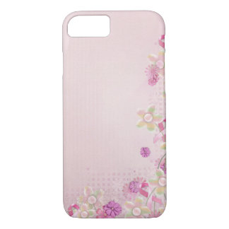 Pink Ribbon and flowers iPhone 7 Case