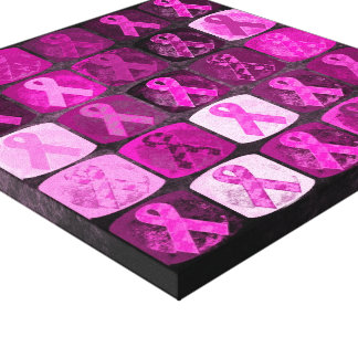 Pink Ribbon, Breast Cancer Awareness Canvas