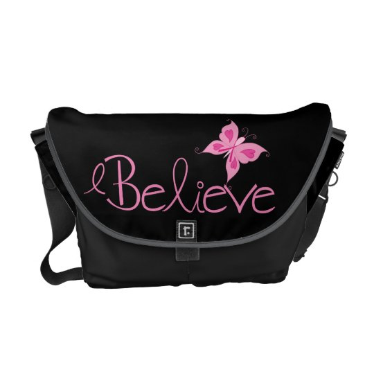 Pink Ribbon Breast Cancer Awareness Courier Bag