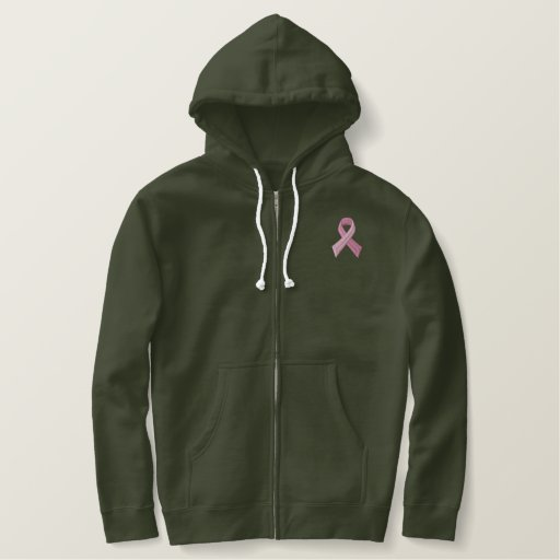 Pink Ribbon - Breast Cancer Awareness Embroidered Hoodie