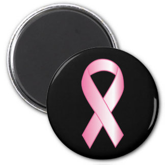 Pink Ribbon Breast Cancer Research 2 Inch Round Magnet