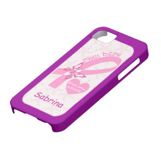 Pink Ribbon Breast cancer survivor custom iPhone 5 Cover