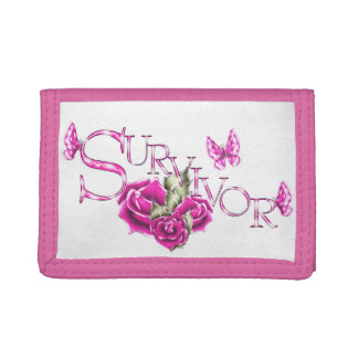 Pink Ribbon Breast Cancer SURVIVOR wallet