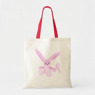 Pink Ribbon Bunny Budget Tote Bag