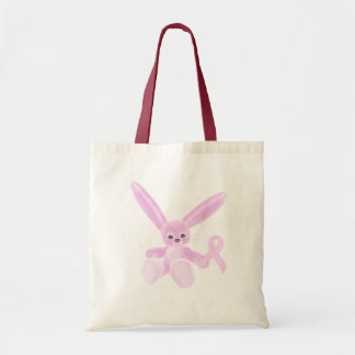 Pink Ribbon Bunny Tote Bag