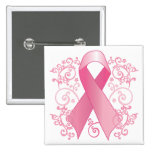 Pink Ribbon Button