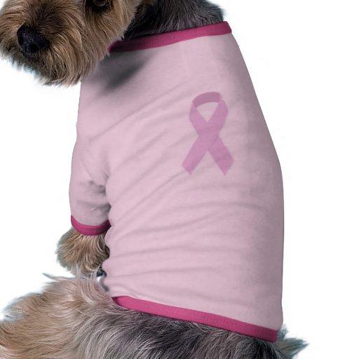 PINK RIBBON CAUSES MEDICAL ILLNESSES BREAST CANCER DOG T SHIRT
