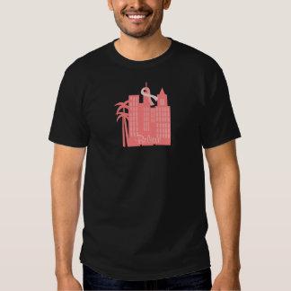 Pink Ribbon Cityscape T Shirt