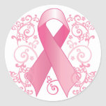 Pink Ribbon Classic Round Sticker