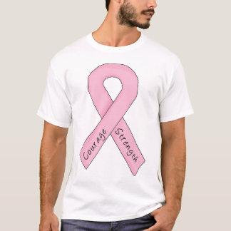 Pink Ribbon Courage Strength T-Shirt