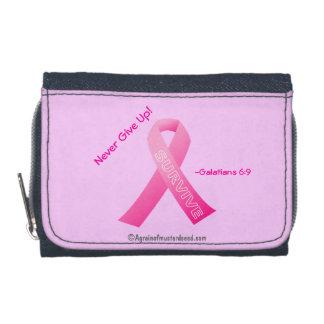 Pink Ribbon Denium Coin Wallet
