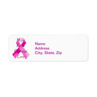 Pink Ribbon Faith Address Labels