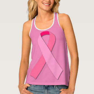 Pink Ribbon for Breast Cancer Awareness Tank Top