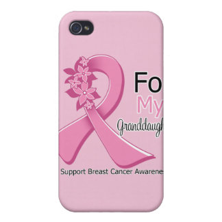 Pink Ribbon For My Granddaughter - Breast Cancer Case For iPhone 4